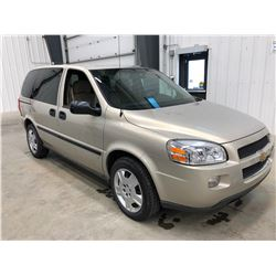 2009 Chevy Uplander Gold, Km 44,750, comes with winter tires and rims