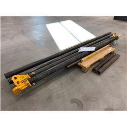 "Tandemloc 3"" pipe end eye cap qty 4, 14000 lbs. capacity, 3 1/2"" pipe @ 36"", 106"", 130"" 2 of each"