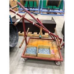 """Steel rolling wire cart, comes with 2 boxes 1/2"""" self tapping screws"""
