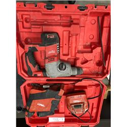 Milwaukee M18 hammer drill no battery, Hilti dust removal system comes with charger no battery