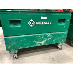 Greenlee HD Locking tool chest on wheels for job sites