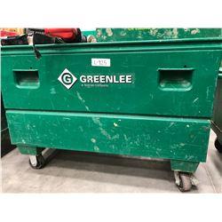"""GreenLee steel rolling cabinet 48"""" x 24"""" x 34"""""""