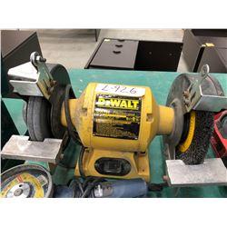 """Dewalt 8"""" bench grinder model DW758, Bosch angle grinder model 1380SLIM"""