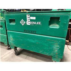 """GreenLee steel rolling cabinet 48"""" x 30"""" x 41"""","""