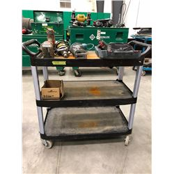 """Rolling plastic parts cart 35"""" x 19"""" x 34"""" (cart only)"""