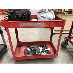 "Steel cart 29"" x 16"" x 30"" (cart only)"
