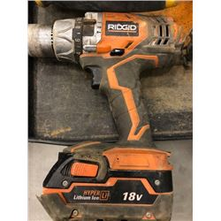 "Ridgid 3/8"" cordless drill model R8611501 condition worn, Dewalt 1/2"" 120V model DW235G condition wo"