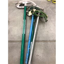 GreenLee Conduit Benders, 842A, 843A, Ideal Conduit Bender 74-003, Benfield Conduit Bender #3