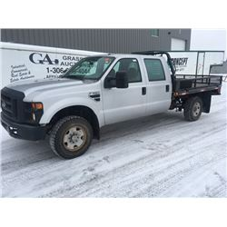 2008 Grey Ford 350 crewcab, V10 Triton,modified flat deck, 15659 km, 4x4, 6.4L Gas Engine, automatic