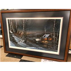 "Terry Redlin - ""Evening With Friends"", 9084/19500 limited edition print, 32x18 image, 30x42 framed"