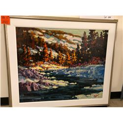 "Ken Gillespe - ""Winter on the Elbow"", Oil on Canvas, 30x36, 39x44 framed"