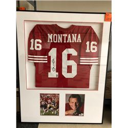 Joe Montana Autographed Jersey and Photos, Holograms from Joe's personal collection & NFL, 35x45