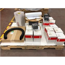 1 spool 6 conductor 18awg, 14 ABB AE75-40-00 Contactors, 1 roll adhesive film