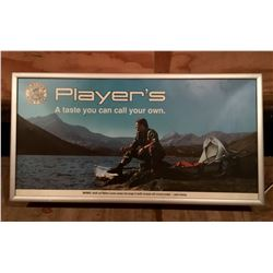 PLAYER TOBACCO, ILLUMINATING SIGN, APPROX 2' X 3'
