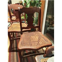 GR OF 4, SIGNED SA PARSONS, BOWMANVILLE FURNITURE, CANED CHAIRS