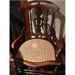 GR OF 8, SIGNED SA PARSONS, BOWMANVILLE FURNITURE, CANED ARM CHAIRS