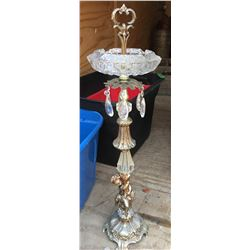 ANTIQUE CRYSTAL ASHTRAY STAND