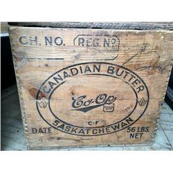 CO-OP, CANADIAN BUTTER BOX, SASKATCHEWAN