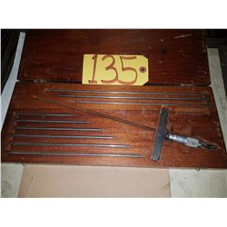 "Starrett No 445 Depth Micrometer set 0-9"""