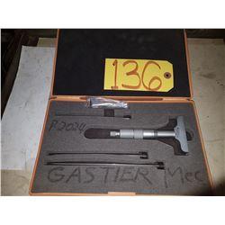 "Mitutoyo 129-127 Depth Gage Micrometer 0-4"""