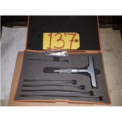 "Mitutoyo 129-132 Depth Gage Micrometer 0-6"""