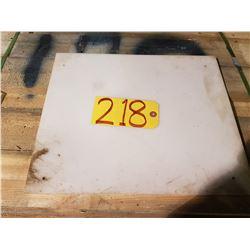 """HMW Plate 12""""3/4 x 15"""" x 1/4"""""""