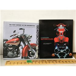 GR OF 2, COFFEE TABLE BOOKS - MOTORCYCLES