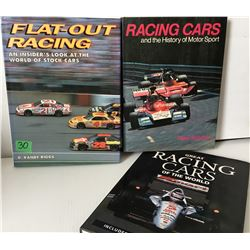 GR OF 3, COFFEE TABLE BOOKS  - CAR RACING