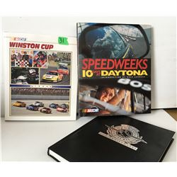 GR OF 3, COFFEE TABLE BOOKS - NASCAR