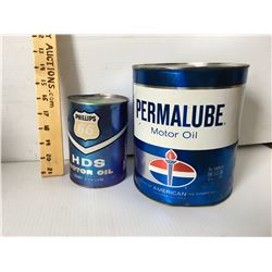 GR OF 2, PERMALUBE 1 GAL FIBRE TIN & PHILLIPS 1 QT FULL FIBRE TIN
