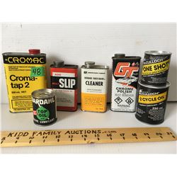 GR OF 7, MISC MAKES, TIN & FIBRE CANS