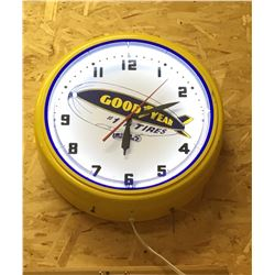 GOOD YEAR, WORKING ILLUMINATING CLOCK - REPRO