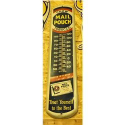 MAIL POUCH, CHEW TOBACCO, TIN THERMOMETER
