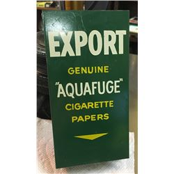 "EXPORT, ""AQUAFUGE"" CIGARETTE PAPERS TIN HOLDER"
