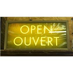 OPEN SIGN, FROM ORIGINAL ORANGEVILLE LCBO - ILLUMINATING