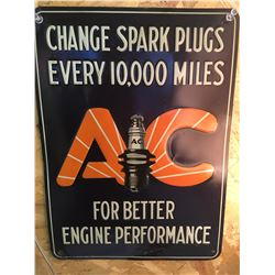 AC SPARK PLUGS, SST, EMBOSSED SIGN, DATED: 5, 1929