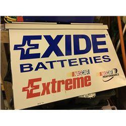 EXIDE BATTERIES, NASCAR EXTREME, SST SIGN