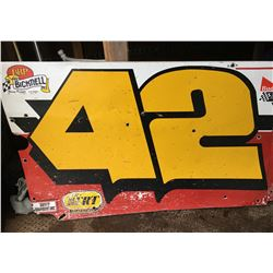 BICKNELL, #42, METAL RACING CAR PANELS *SEE BOTH IMAGES*