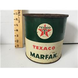 TEXACO MARFAK 5 LBS, SOME CONTENTS