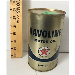 TEXACO HAVOLINE QT TIN