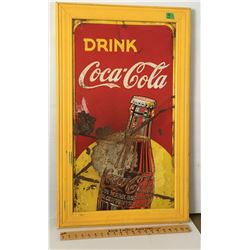 "COCA-COLA TIN SIGN, 17"" X 32"""