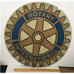 ROTARY INTERNATIONAL DOUBLE SIDED SIGN, ALUM? 30""