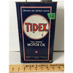 TIDEX MOTOR OIL GALLON TIN
