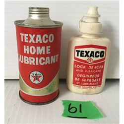 GR OF 2 TEXACO, 4 OZ HOME LUBRICANT FULL & DE-ICER