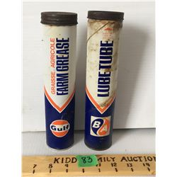 GR OF 2, B/A & GULF GREASE TUBES FULL
