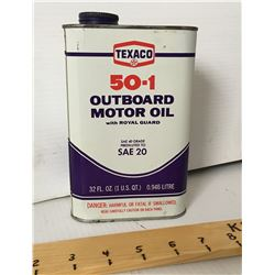 TEXACO OUTBOARD MOTOR OIL, 32 OZ W/CONTENTS