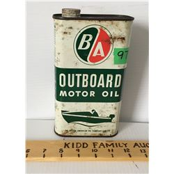B/A OUTBOARD MOTOR OIL, QT TIN