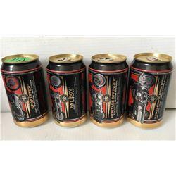 GR OF 4 MILLER/HARLEY DAVIDSON 95 YR BEER CANS