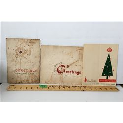 GR OF 3 CHRISTMAS GREETINGS 1949, 1950 O'KEEFE AND RANGER BREWING CO.