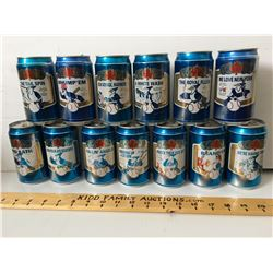 GR OF 13 LABATT'S/BLUE JAYS BEER CANS, ALL DIFFERENT